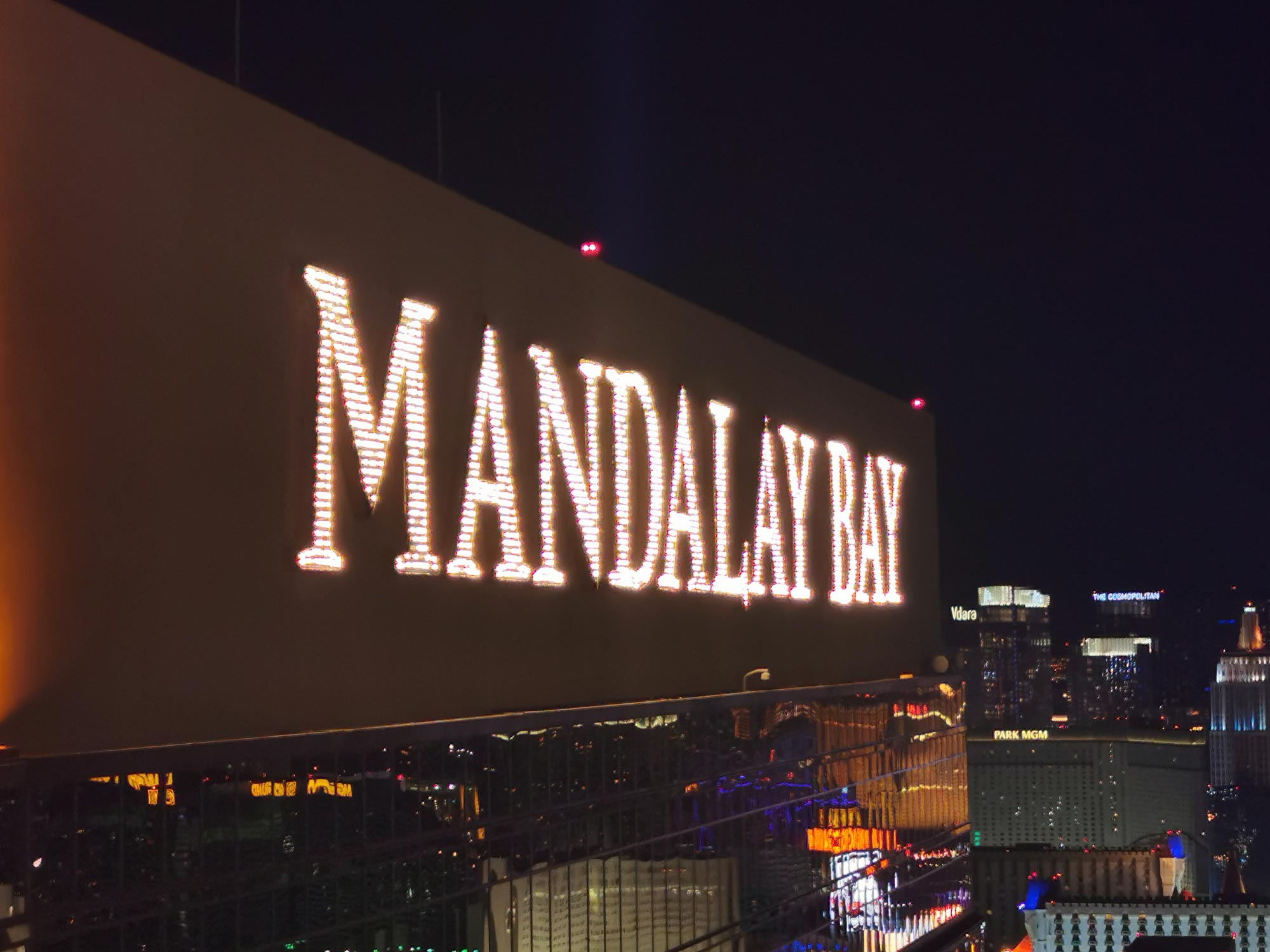 Mandalay Bay at night