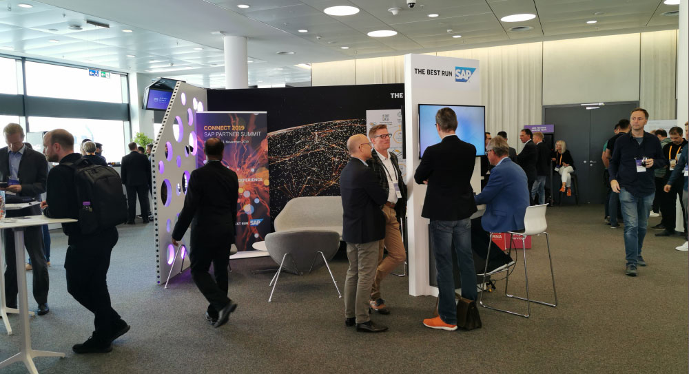 SAP Booth at AWS Summit Frankfurt 2019 - AWS Exhibition - Companies and Experts Conference