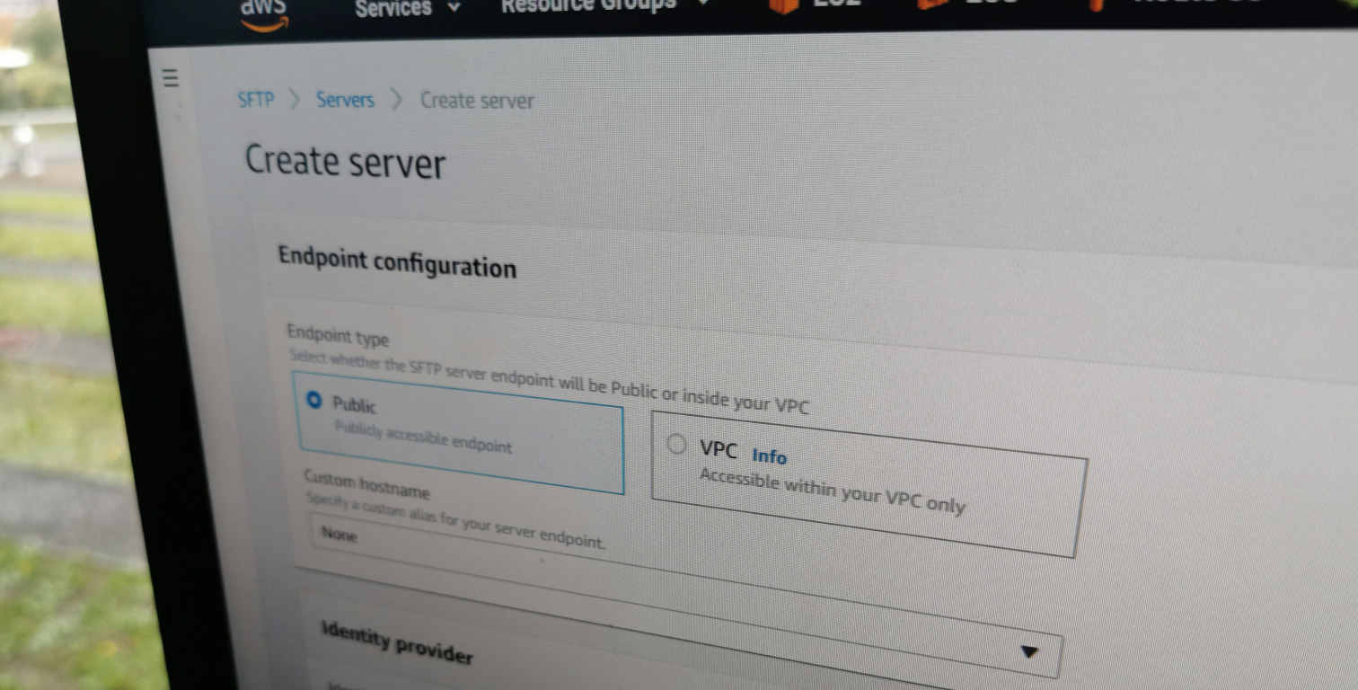 AWS Transfer for SFTP - FTP-Server on Amazon Web Services
