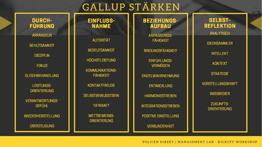 Gallup Strengths (in German)