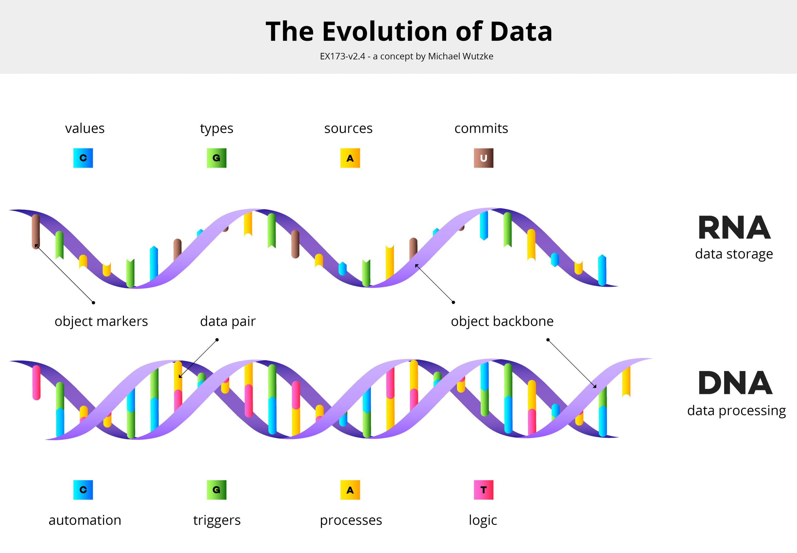 The Evolution of Data - a concept by Michael Wutzke